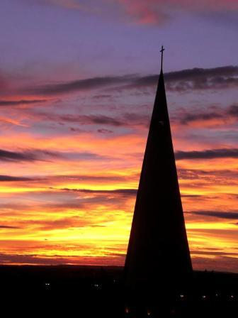 church-sunrise