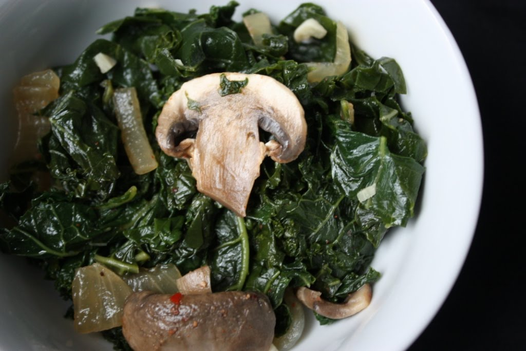 Smoky Sautéed Kale & Mushrooms | Fake Food Free