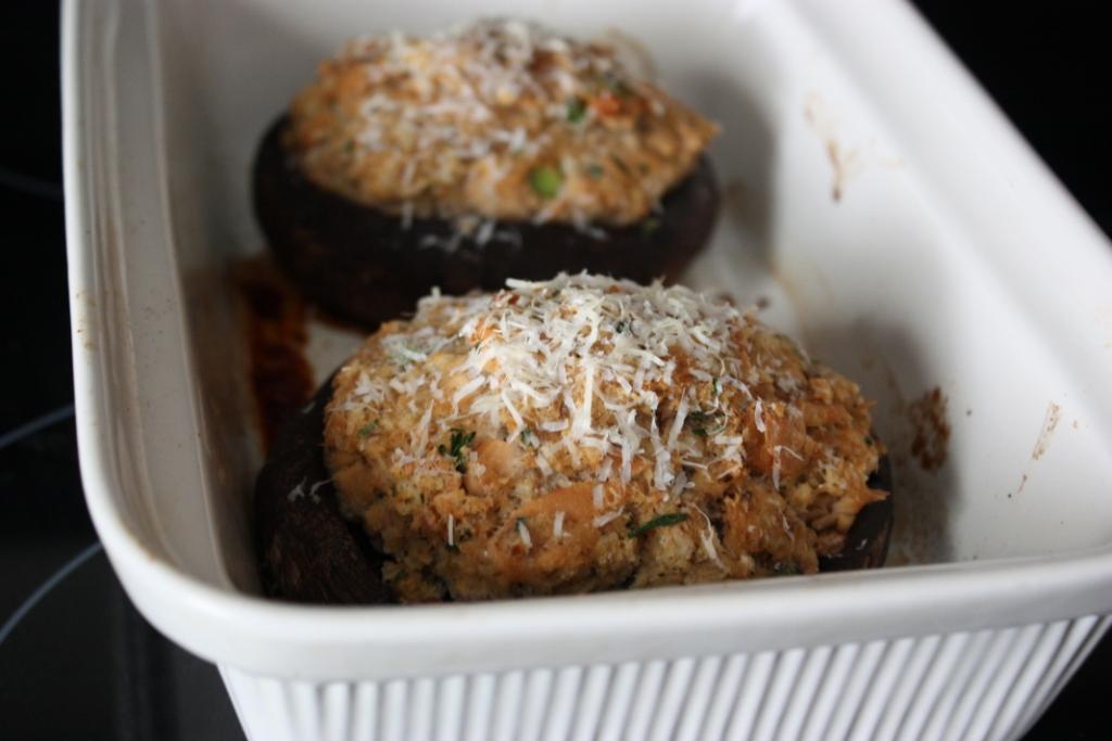 Salmon-Stuffed Portabella Mushrooms Recipe | Fake Food Free