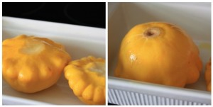 Patty Pan Squash preparation