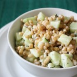 Cucumber Dill Wheat Berry Salad