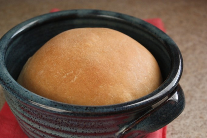 Baking Bread and Handmade Pottery | Fake Food Free | This recipe uses handmade pottery baker bowls for baking bread. It's the perfect amount for two to three people.