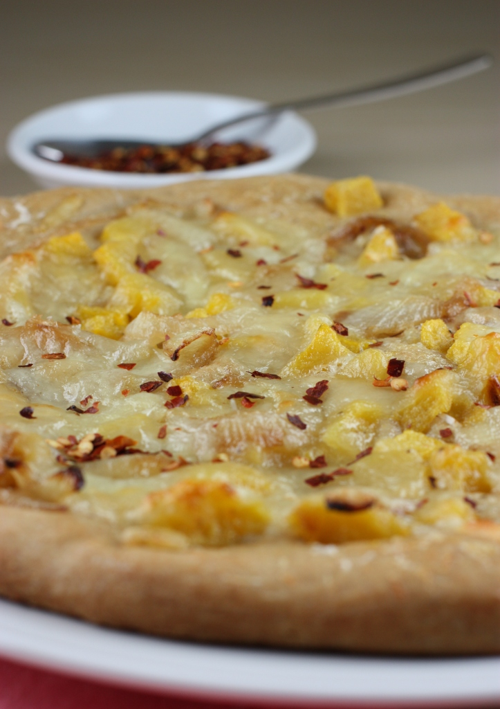 Roasted Acorn Squash and Garlic Pizza recipe