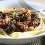Hearty Tomato, Kale & Mushroom Sauce (Over Handmade Pasta)