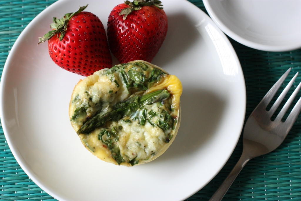 Baked Egg Cups with Asparagus and Kale Recipe