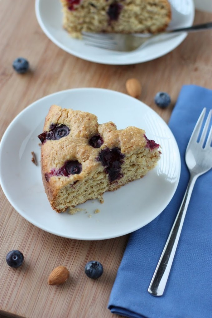 Blueberry Almond Cake Recipe | Fake Food Free