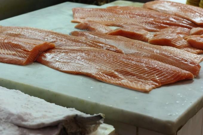 Salmon at the English Market in Cork, Ireland | Fake Food Free
