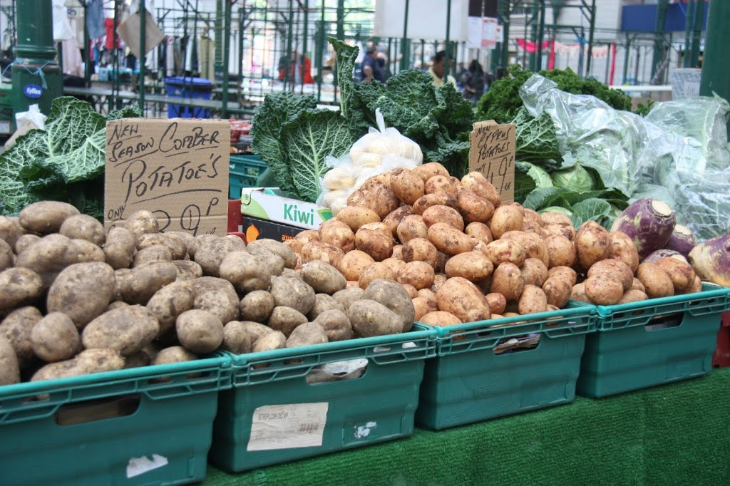 Potatoes in St. George's Market Belfast