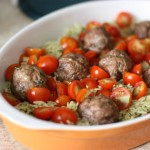 Thai Basil Pesto Orzo with Local Meatballs