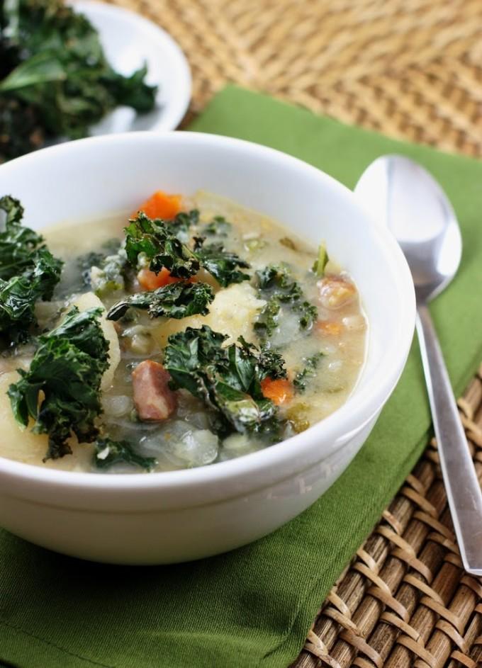 Smoky Potato Soup with Kale | Fake Food Free