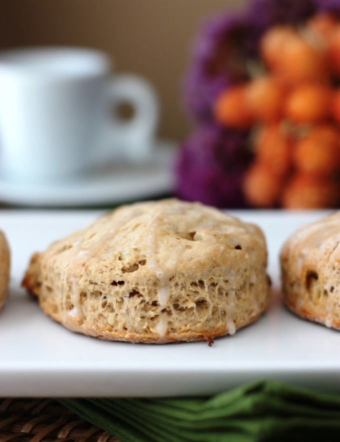 Banana Bourbon Scones with Walnuts | Fake Food Free