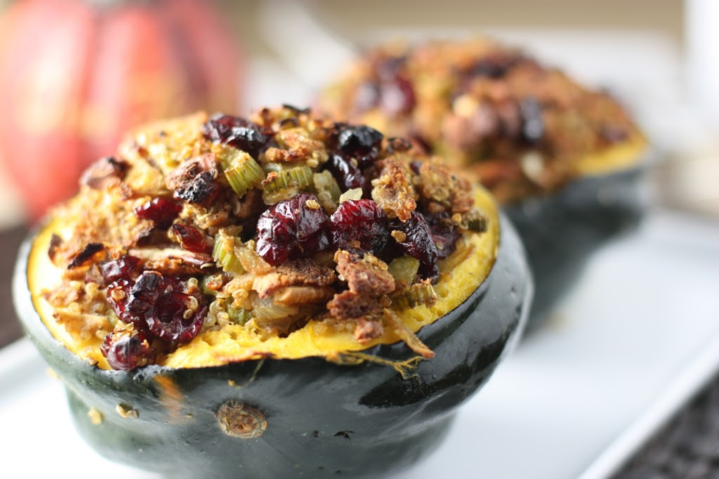 Cranberry Orange Quinoa Stuffing with Pecans in an Acorn ...