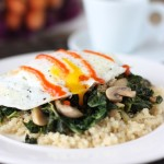 Fried Egg over Kale and Quinoa
