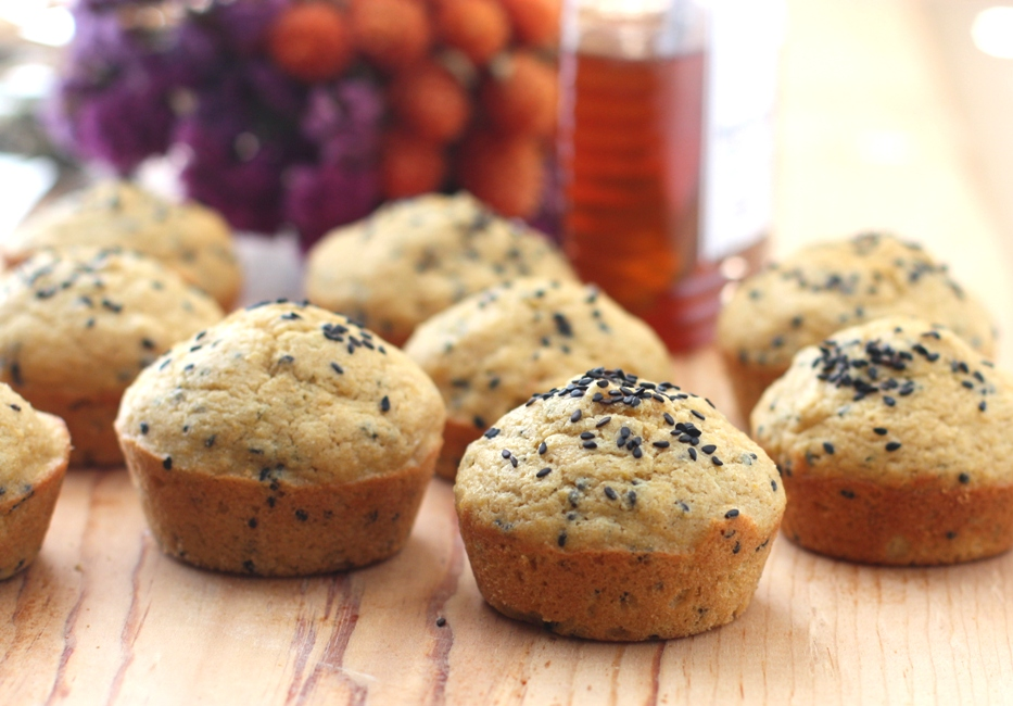 Recipe for Pumpkin Black Sesame Seed Muffins | Fake Food Free