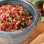 Wheat Berry Salad with Fresh Cranberries and Orange Maple Dressing