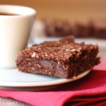 Salted Dark Chocolate Coconut Brownies