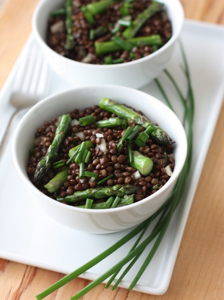 how to cook black lentils for a salad