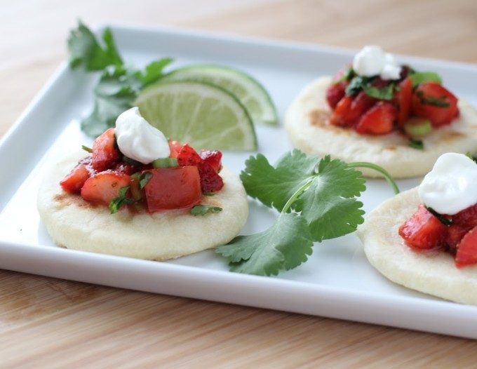 Strawberry-Lime Salsa with Homemade Flour Tortillas | Fake Food Free