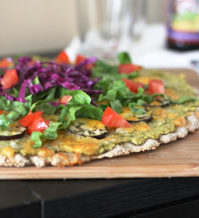 Tex Mex Poblano Eggplant Pizza Recipe | Fake Food Free