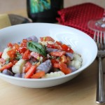 Blue and White Potato Gnocchi with Fresh Red Tomato Sauce Recipe