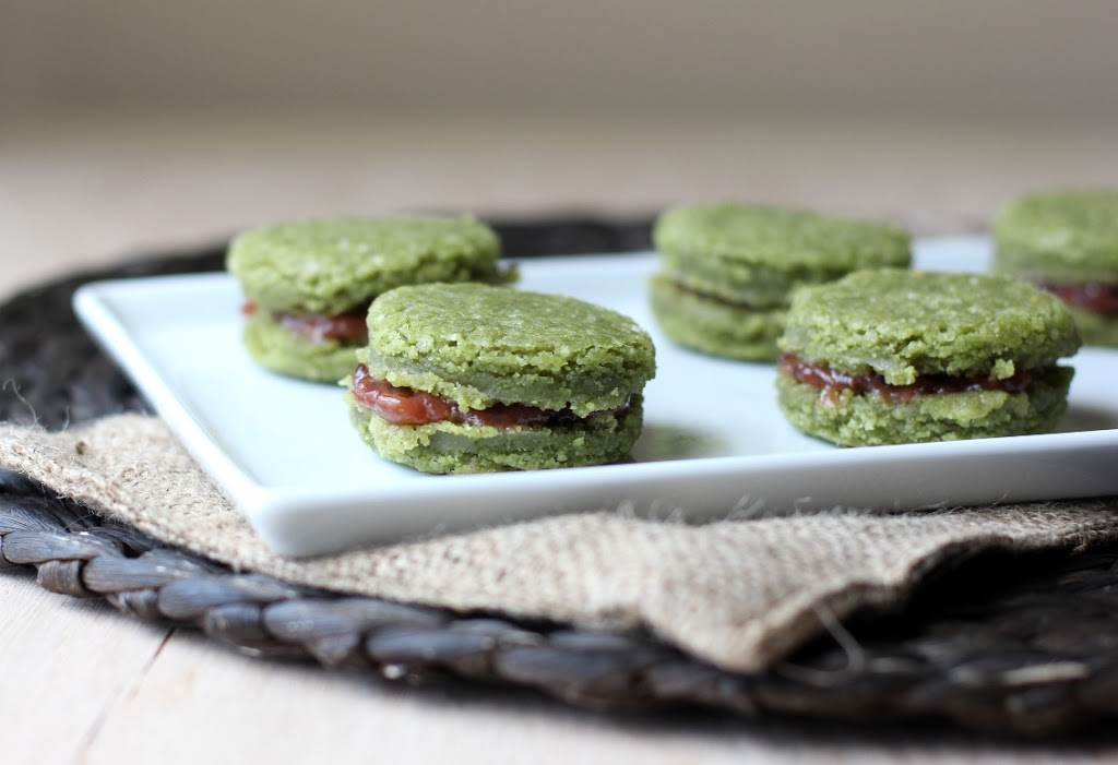 Matcha Tea Cookies with Gooseberry Filling Recipe | Fake Food Free