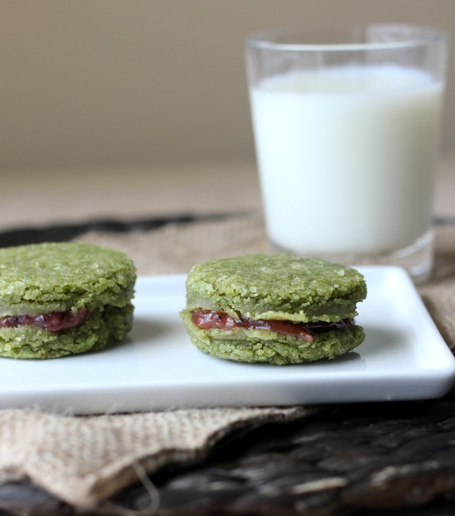 Matcha Tea Cookies with Gooseberry Filling Recipe on Fake Food Free