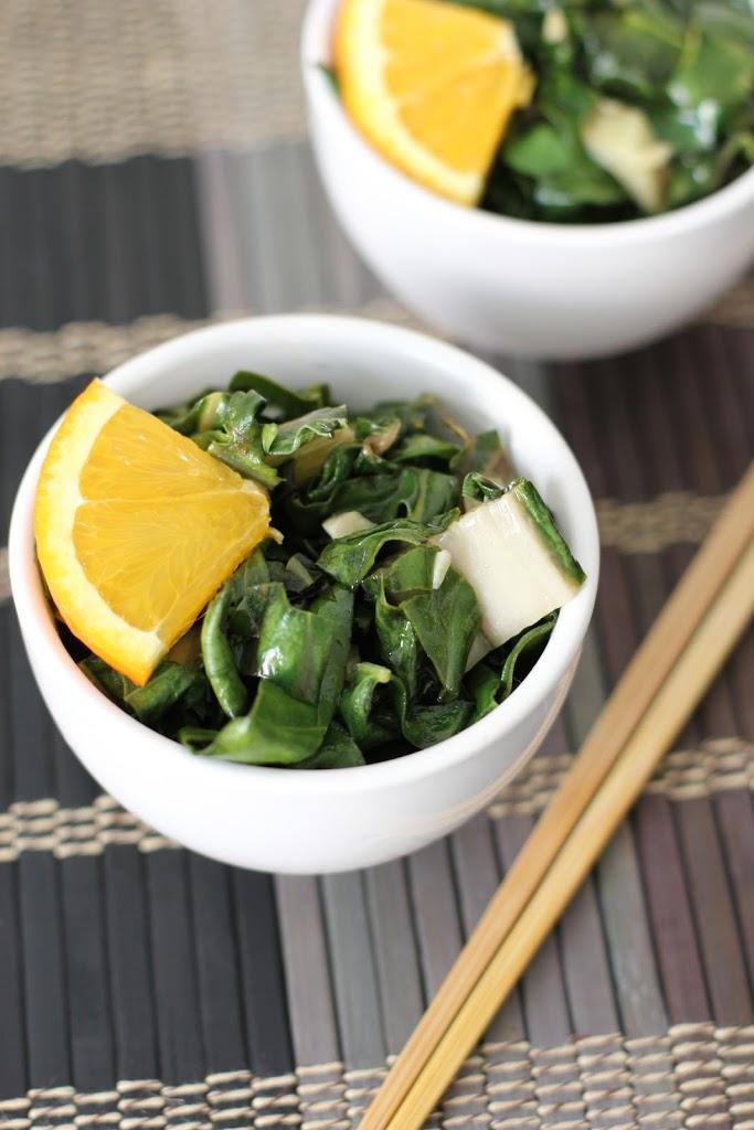 Sautéed Sweet Orange and Sesame Bok Choy Recipe | Fake Food Free