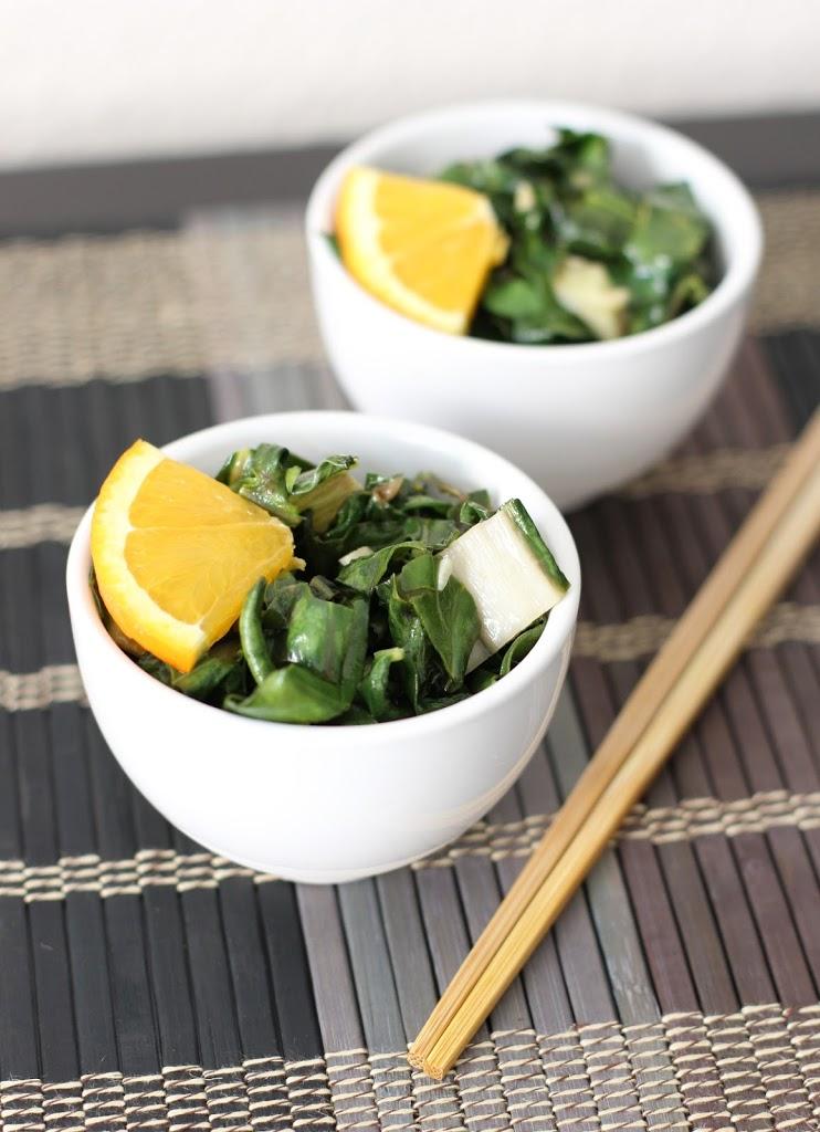 Sweet Orange Sesame Bok Choy Recipe | Fake Food Free