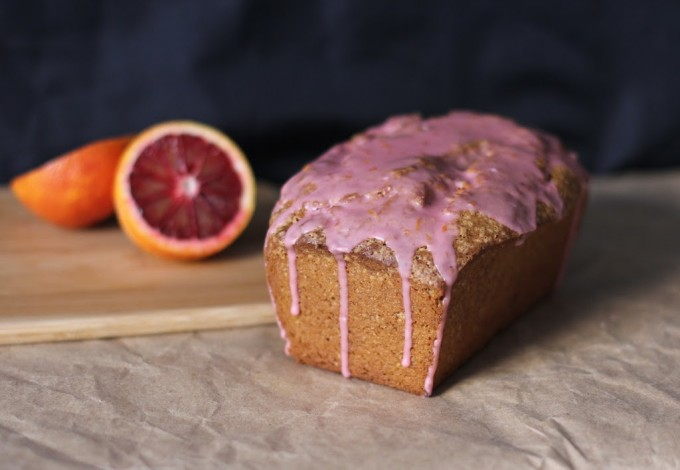 Avocado Pound Cake with Blood Orange Glaze | Fake Food Free