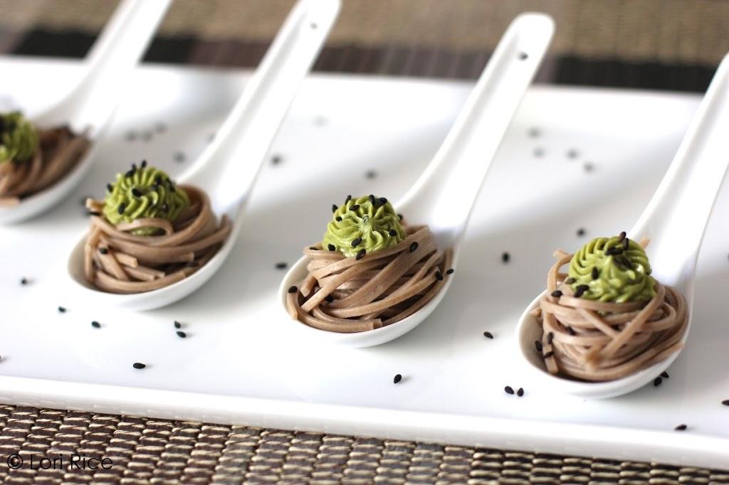 Green Tea-Sesame Butter over soba noodles | Fake Food Free