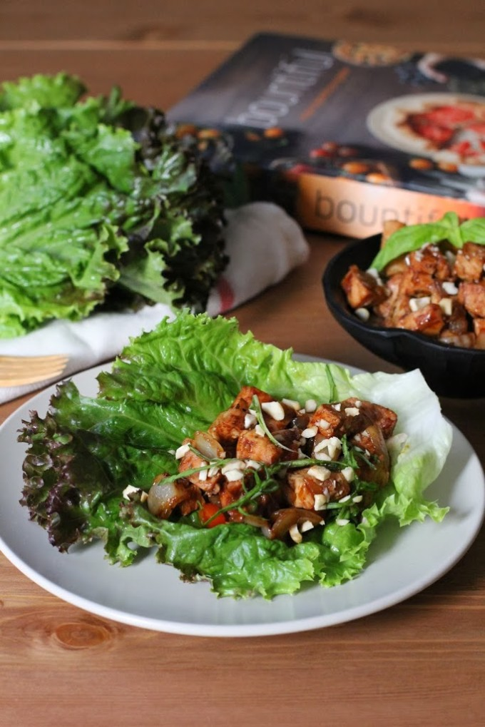 Lettuce Wraps with Almond-Basil Chicken from Bountiful by Todd Porter and Diane Cu | Fake Food Free