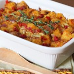 Sourdough Stuffing with Artichokes and Sundried Tomatoes Recipe