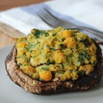 Chickpea-stuffed-portobello