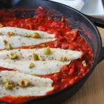 White Fish with Tomatoes and Olives Recipe