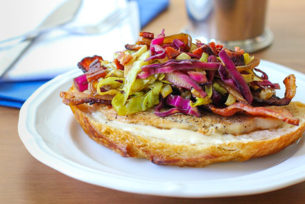 Bacon Turkey Sandwich with Hot Slaw 2-4