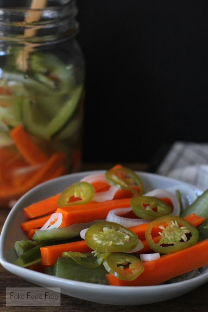 Javanese Carrot and Cucumber Pickle | fakefoodfree.com