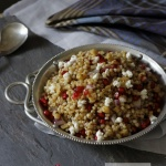 Sorghum Pomegranate Salad with Goat Cheese and Walnuts Recipe