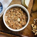 Bosc Pear, Walnut and Gorgonzola Holiday Stuffing