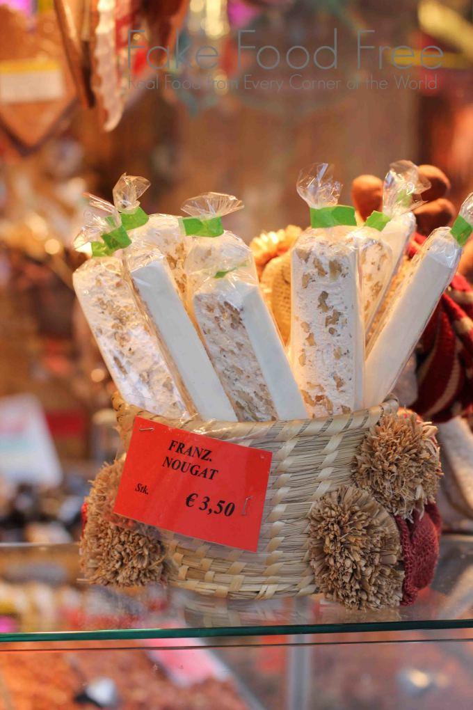 Handmade Nougat at Vienna Christmas Markets | Fake Food Free