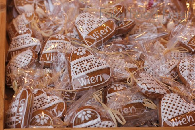 Gingerbread from Vienna's Christmas Market. Find travel tips and what to eat and drink in this post at Fake Food Free.