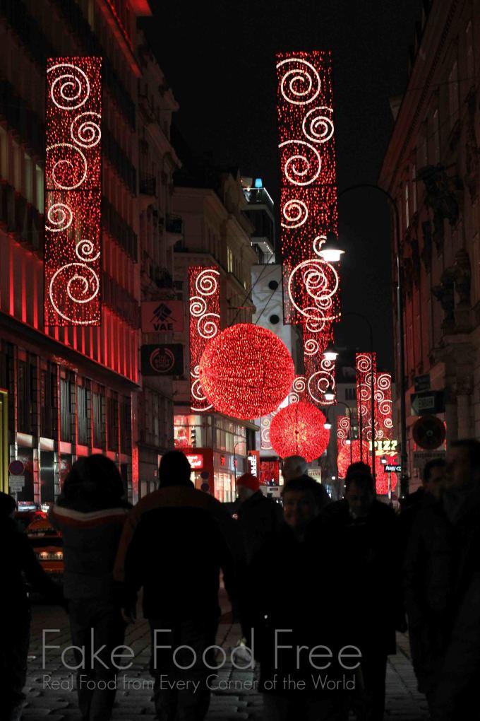 Stephansplatz at Christmas in Vienna | Fake Food Free