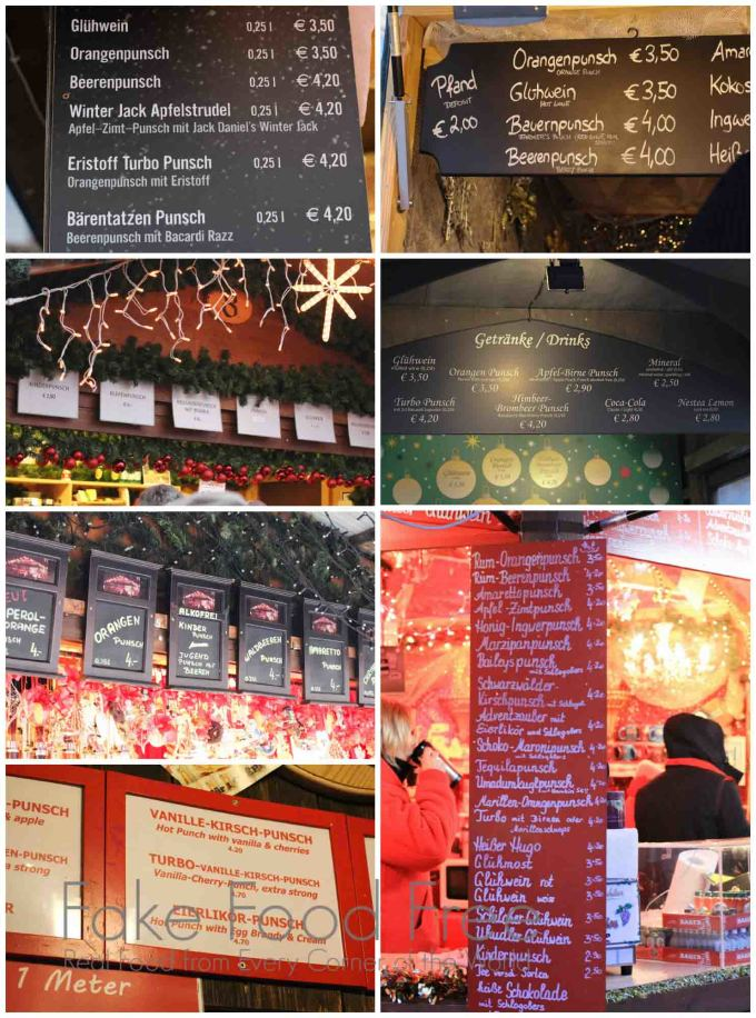 Punsch Menus from the Christmas Markets in Vienna | Fake Food Free