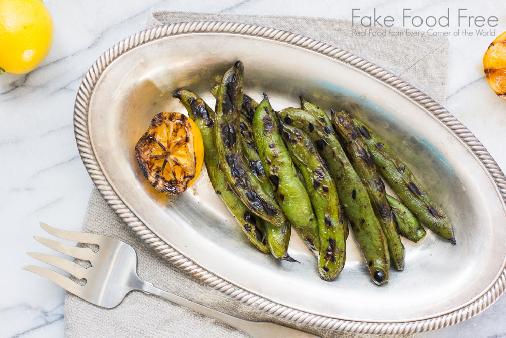 Grilled Fava Beans with Charred Lemon and Smoked Sea Salt | Fake Food Free