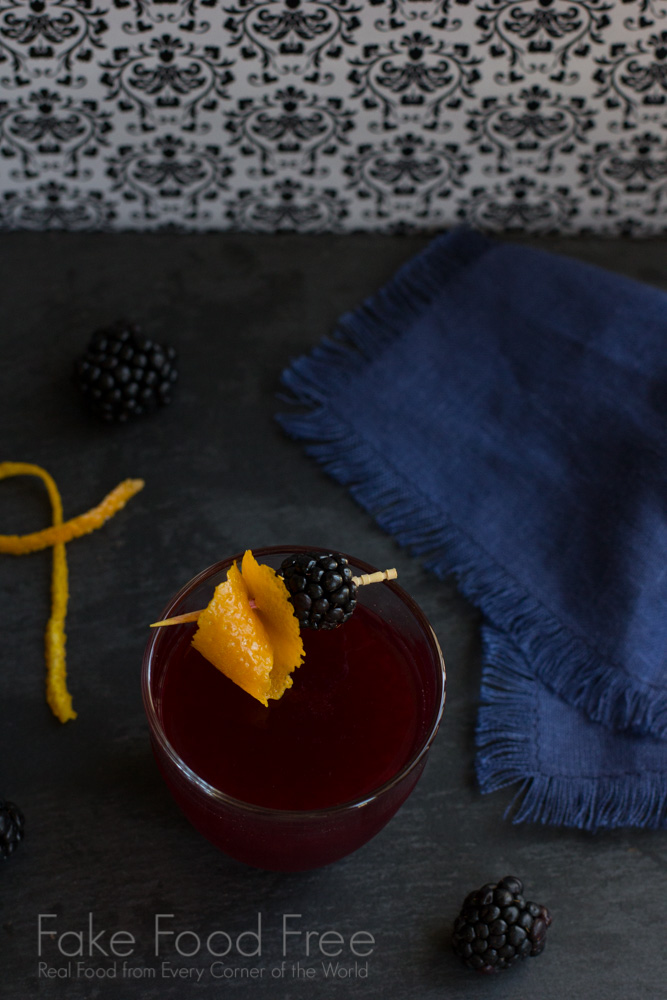Blackberry Scofflaw Cocktail | Fake Food Free