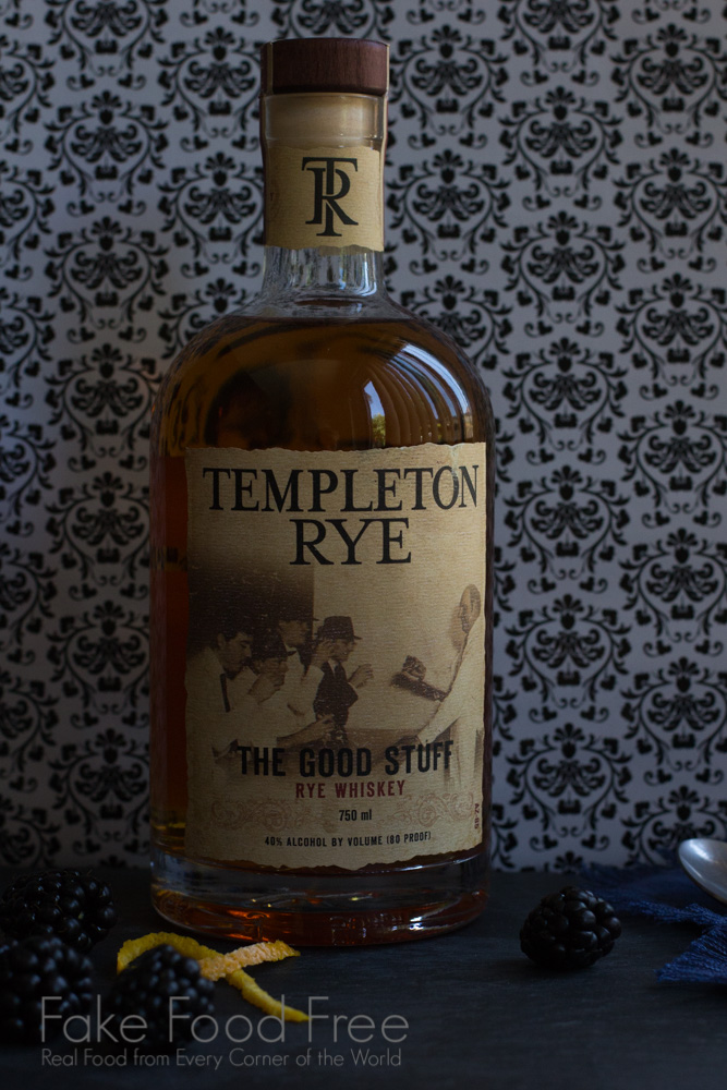 Templeton Rye Whiskey and the Blackberry Scofflaw Cocktail | Fake Food Free