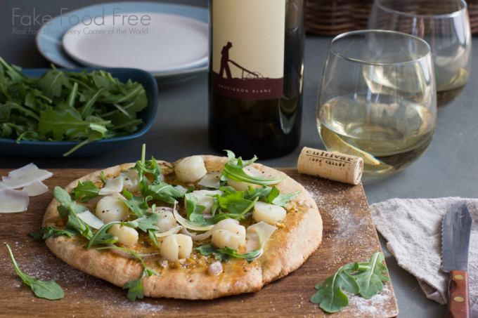 Grilled Scallop Pizza 2