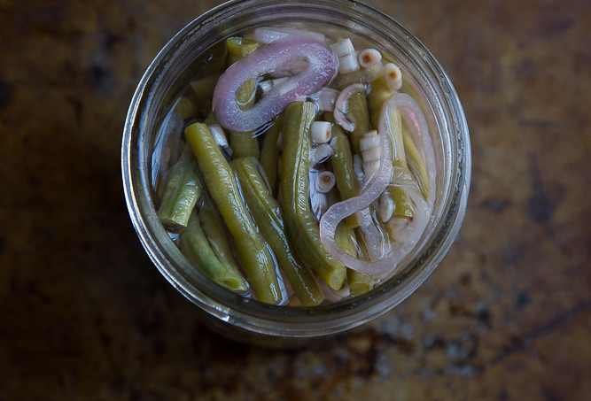 Pickled Long Beans with Lemongrass