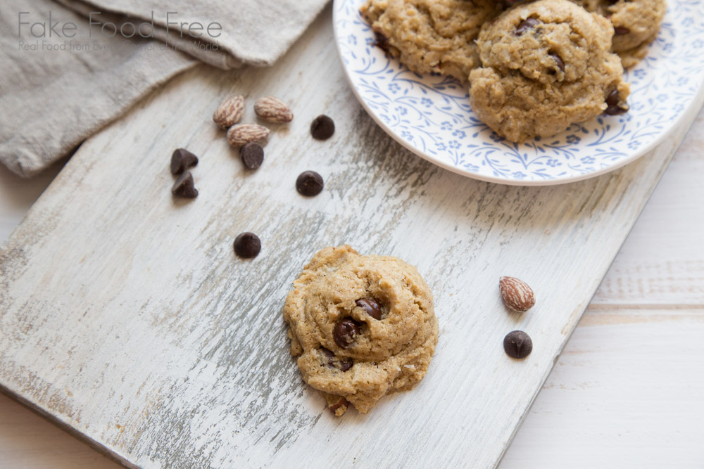 Smoked Almond Chocolate Chip Coconut Cookies 4
