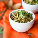 Acorn Squash Lentils with Pumpkin Seeds and Cilantro