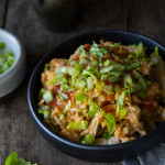Buffalo Chicken and Rice Slow Cooker Casserole
